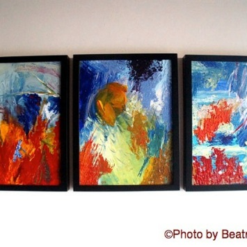 Colombian Artist in Santa Barbara, California. Abstract Paintings.