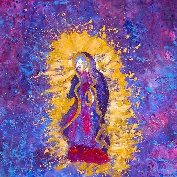 """Virgen de Guadalupe, 2011. 20"""" x 28"""""""