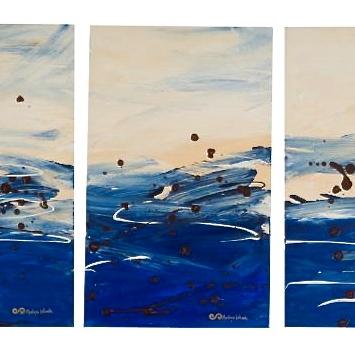Triptico Mar Abierto, 2008. 50 x 90cm