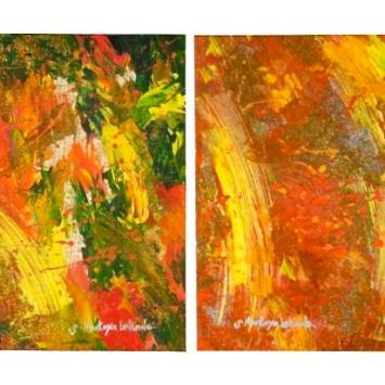 """Sahasrah I & II, 2008. 14"""" x 22"""""""