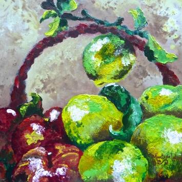 """Lemons & Apples, 12"""" x 12"""". 2011"""
