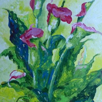 "Calla Lilies in Summer, 2011. 24"" x 18"""