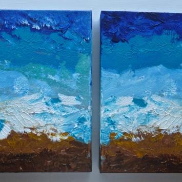 """Duo The Ocean, 2012 12"""" x 24"""""""