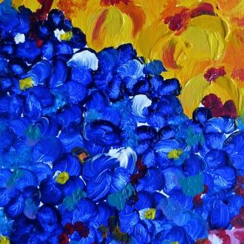 "Feria de las Flores, 2008. 8"" x 18"""