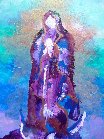 "Our Lady of Guadalupe II, In Honor of 12/12/12, 2012. 11"" x 14"""