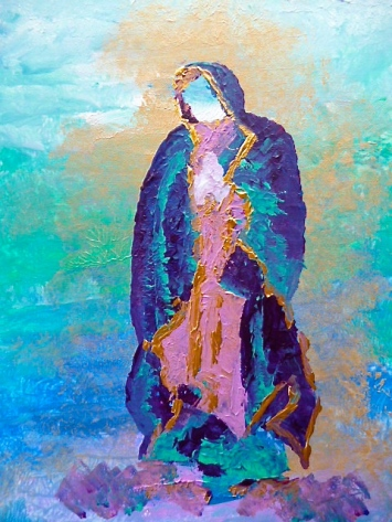 "Our Lady of Guadalupe, In Honor of 12/12/12, 2012. 11"" x 14"""