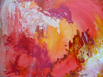 Colombian Artist in Santa Barbara, California. Abstract Paintings.